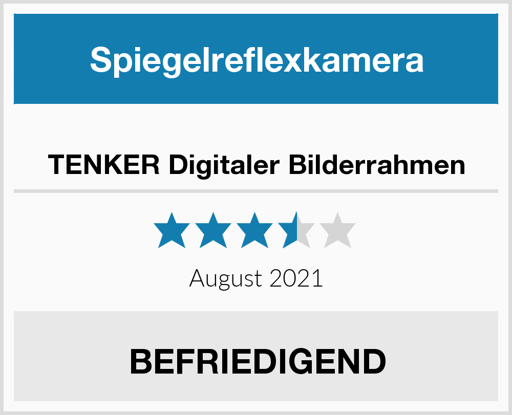 No Name TENKER Digitaler Bilderrahmen Spiegelreflexkamera Test 2018